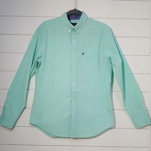 American Eagle Light Green Casual Shirt